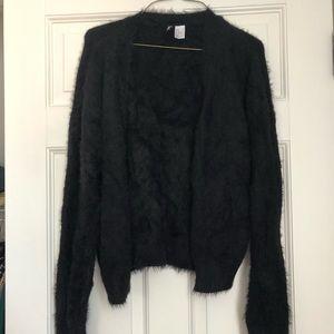 Black Faux Fur Cardigan